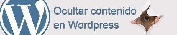 Ocultar categorías, tags y/o posts en WordPress