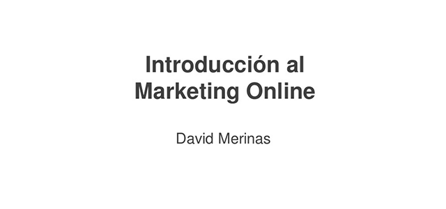 Introducción al Marketing Online (Córdoba – #Sysmana2014)