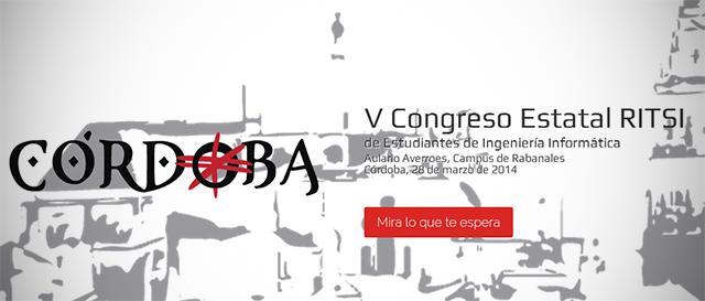 V Congreso Estatal RITSI de Estudiantes de Ingeniería Informática en Córdoba