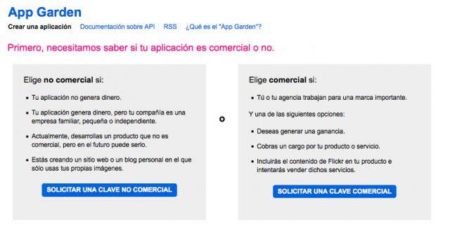 Solicitar API Flickr